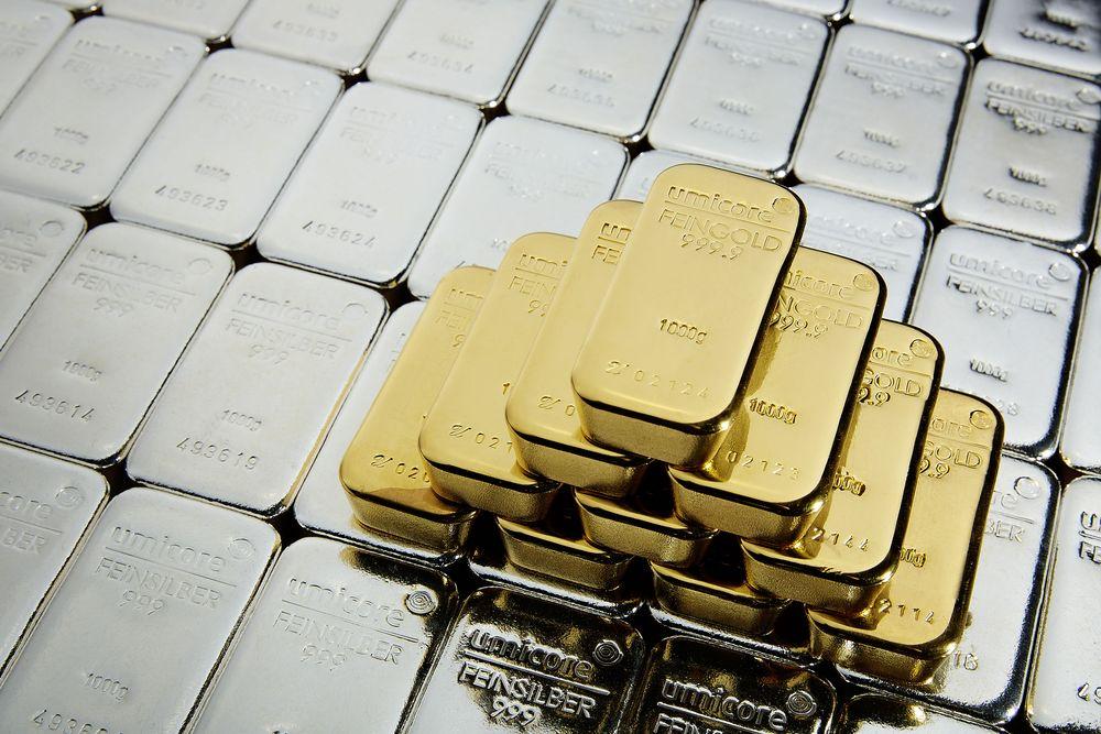 Zlato, srebro in platina vzeli počitek